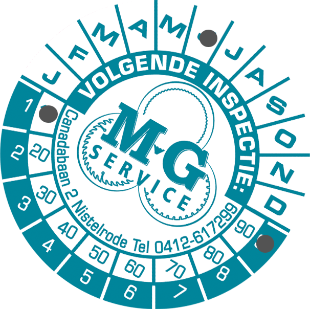 MG Service Keuringssticker