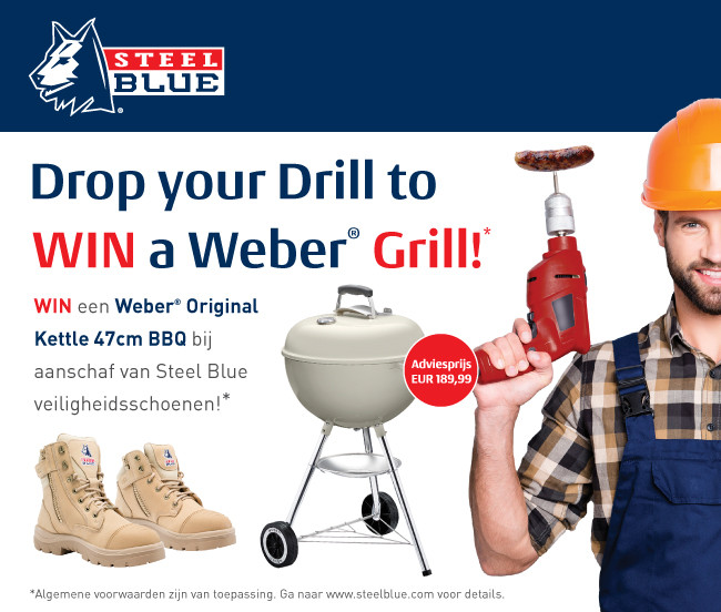 SteelBlue werkschoenen, Drop your drill to win a Weber Grill!
