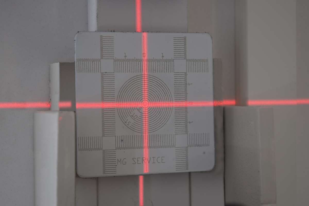 Laser Kalibratie