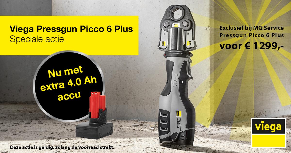 ACTIE: Viega Pressgun Picco 6 nu met extra 4.0 Ah accu!